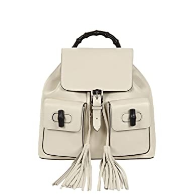 f358bdffd4d Gucci Bamboo Leather Backpack 370833 6525 Ivory  Amazon.co.uk  Clothing