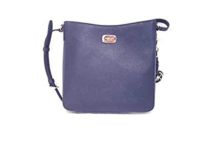 9f6aa27c0 Amazon.com: Michael Kors Jet Set Travel Large Messenger Crossbody (Navy):  Shoes