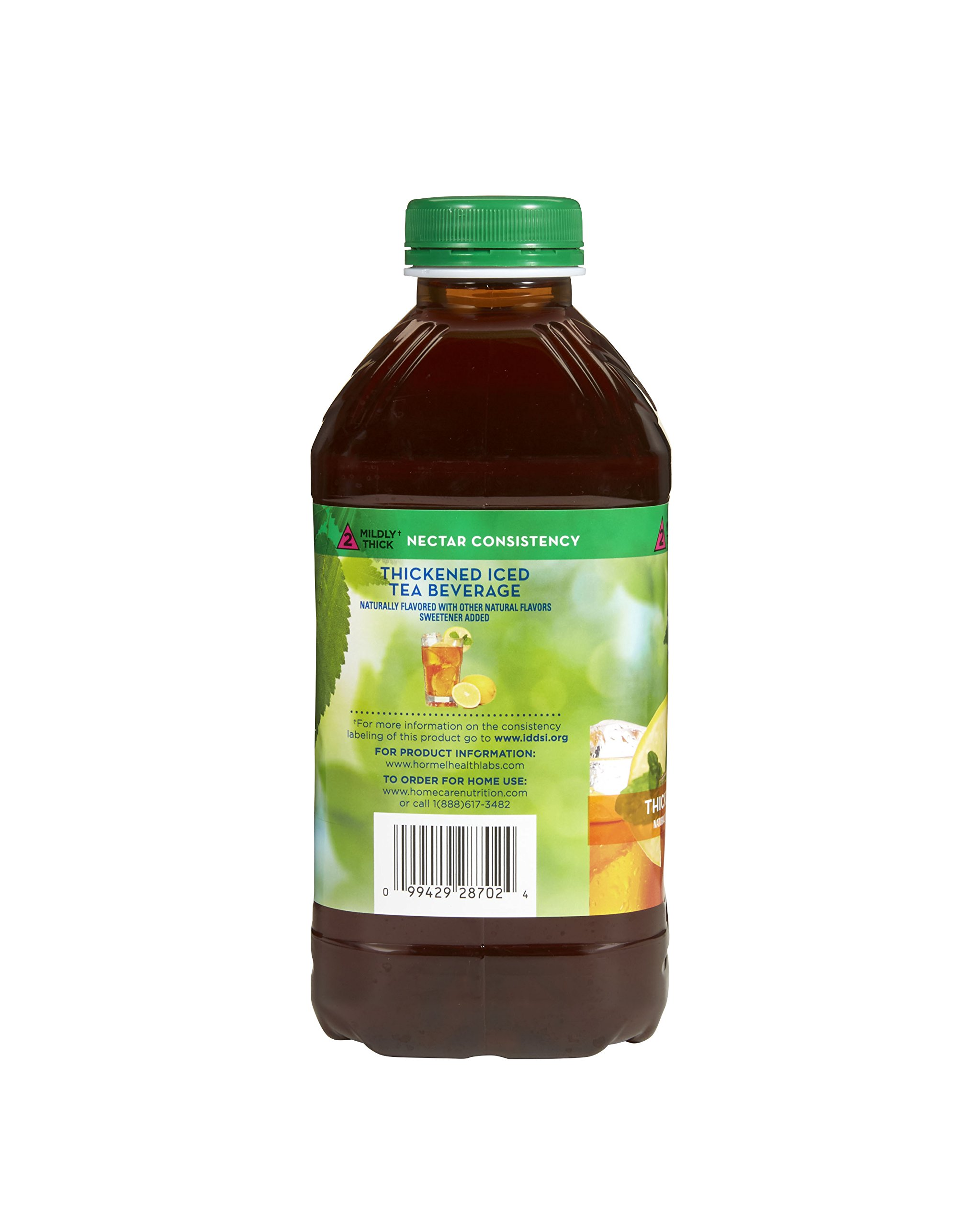 Thick & Easy Clear Thickened Iced Tea, Nectar Consistency, 46 Ounce (Pack of 6)