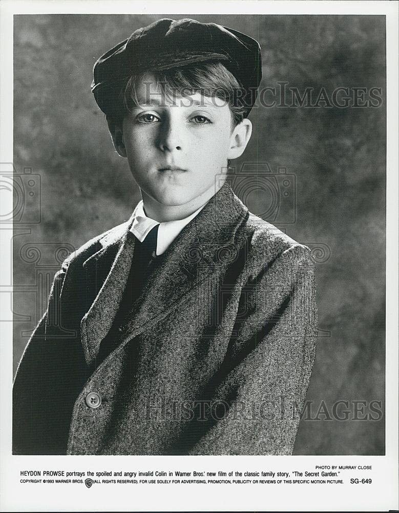 1993 Press Photo Young Actor Heydon Prowse In The Secret Garden Film Amazon Co Uk Kitchen Home