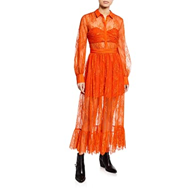 24570db231b8f Amazon.com: Self Portrait Floral Fine Lace Midi Dress UK6/US2 (US2 ...