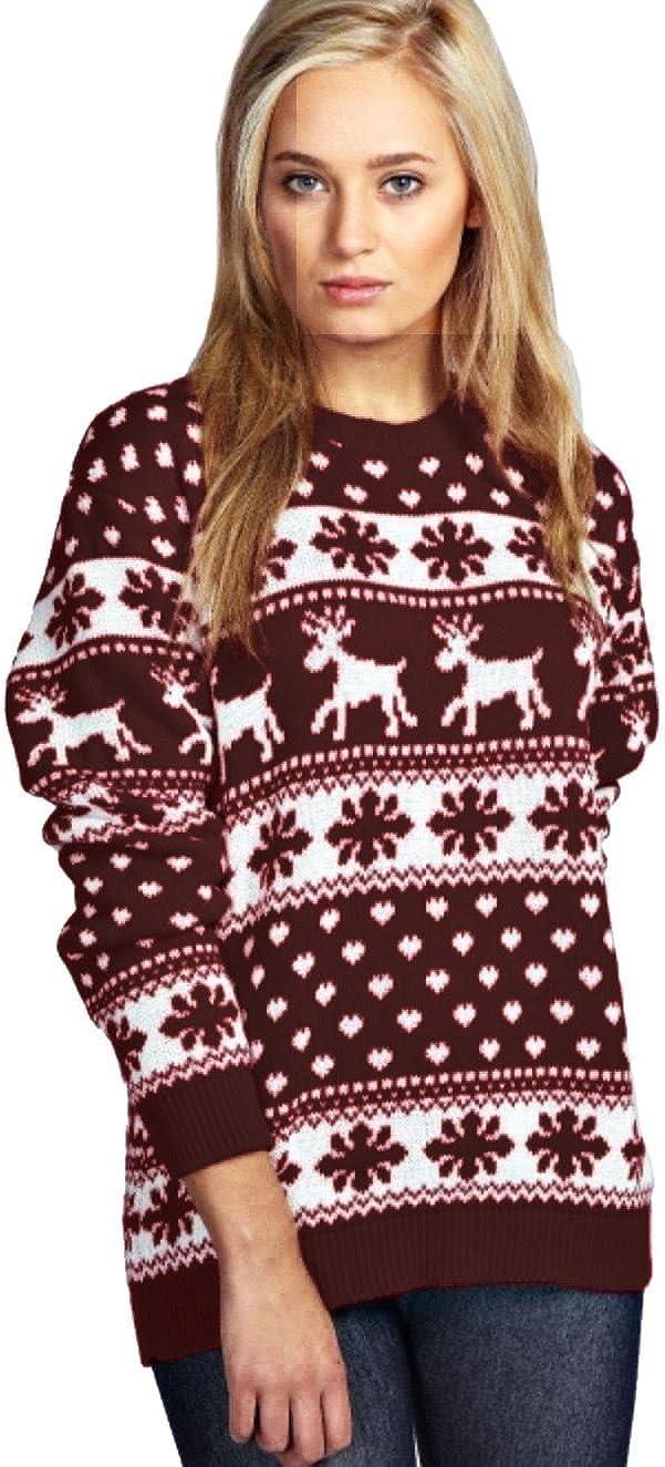 Jersey retro fabricado por Purl®, para hombres y mujeres, de Navidad, con Rudolph, renos, pompones, Papá Noel, duendes, pingüinos, S-3XL