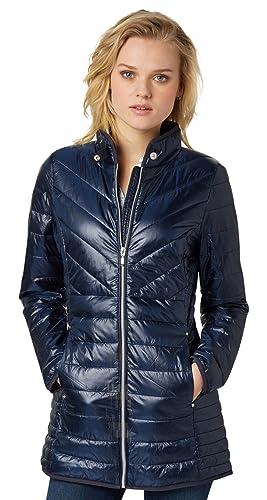 TOM TAILOR Feminine Midi Coat-Chaqueta Mujer    real navy blue M