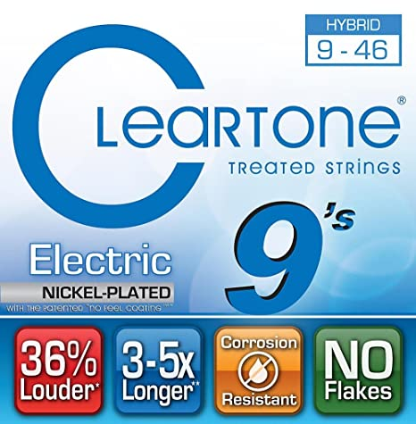 Cleartone 9419 - Cuerdas de guitarra eléctrica, calibre 9-46