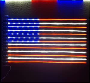 Russell Decor Patriot USA Flag LED Neon Sign Lights for Wall Decor Independence Day July 4th Stars and Stripes 5ftx3ft Red Blue White