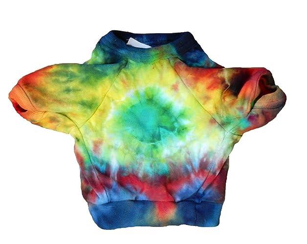 1c0b17a94ff Amazon.com  Tie Dye Dog Shirt-Size Small-Free Shipping-One of a Kind-Carla  Smale  Handmade
