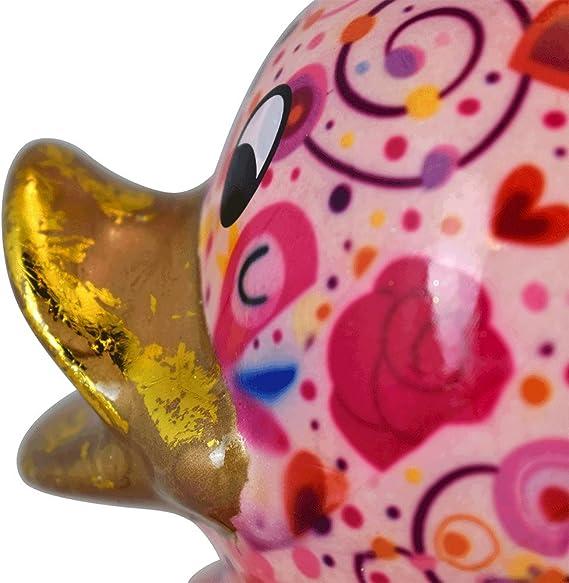 Tirelire Dauphin Originale en c/éramique Pink Love Cadeau Unique avec bo/îte-Cadeau Gratuite Pomme Pidou Tirelire Twisty