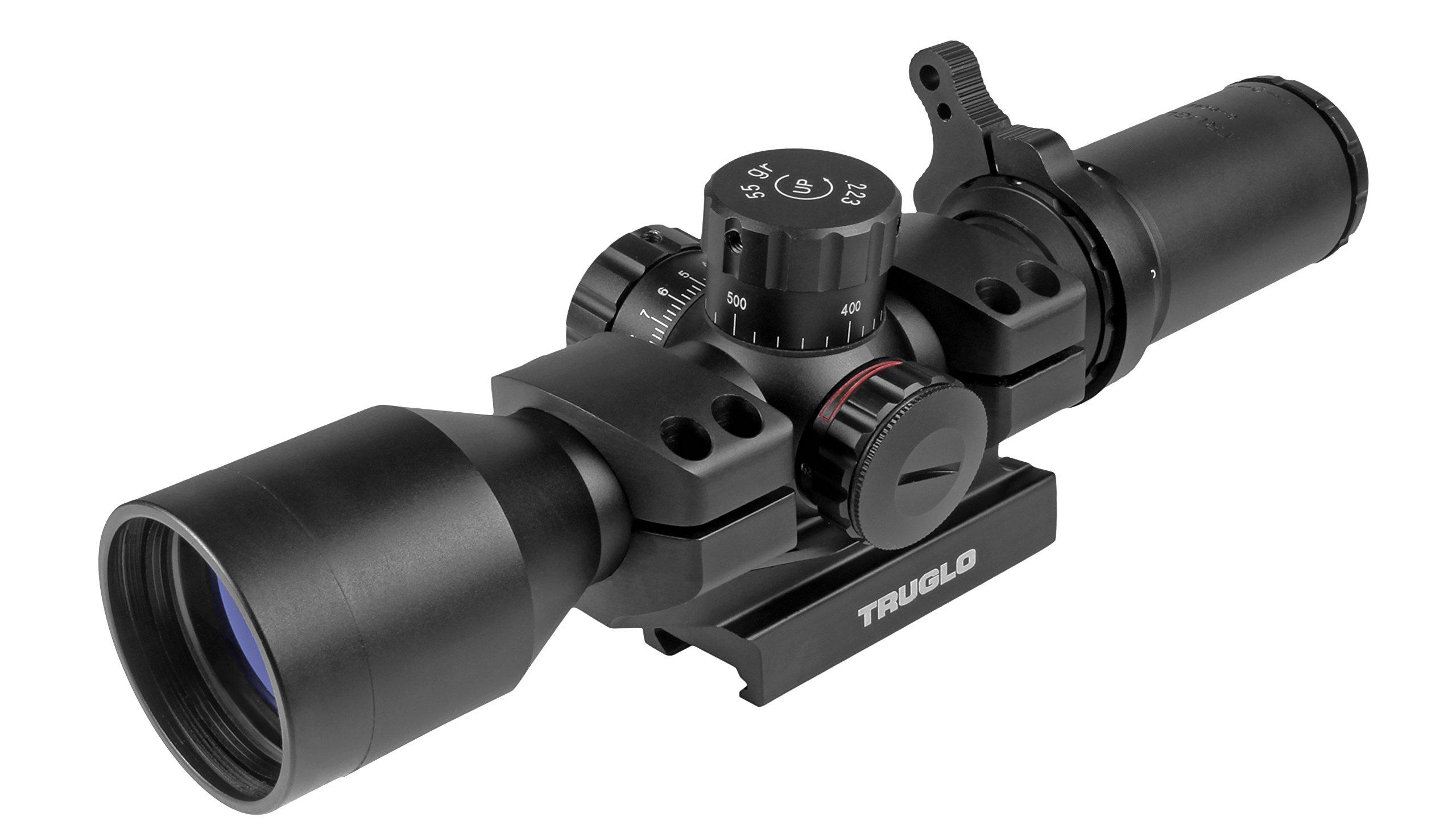 TRUGLO TRU-BRITE 30 Series Illuminated Tactical Rifle Scope - Includes Scope Mount, 3-9 x 42mm by TRUGLO