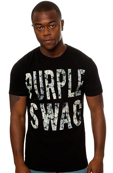 Amazon.com  ASAP Rocky Men s Purple Swag Tee Extra Extra Large Black   Clothing edfe0c857