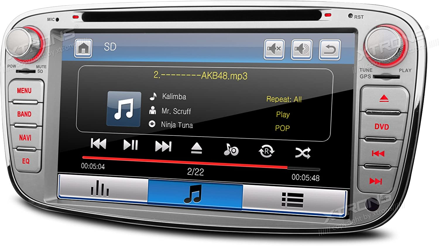 "Amazon.com: XTRONS Silver 7"" HD Touch Screen Car Stereo DVD ..."