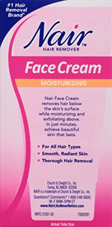 Amazon Com Nair Hair Remover Moisturizing Face Cream With Sweet