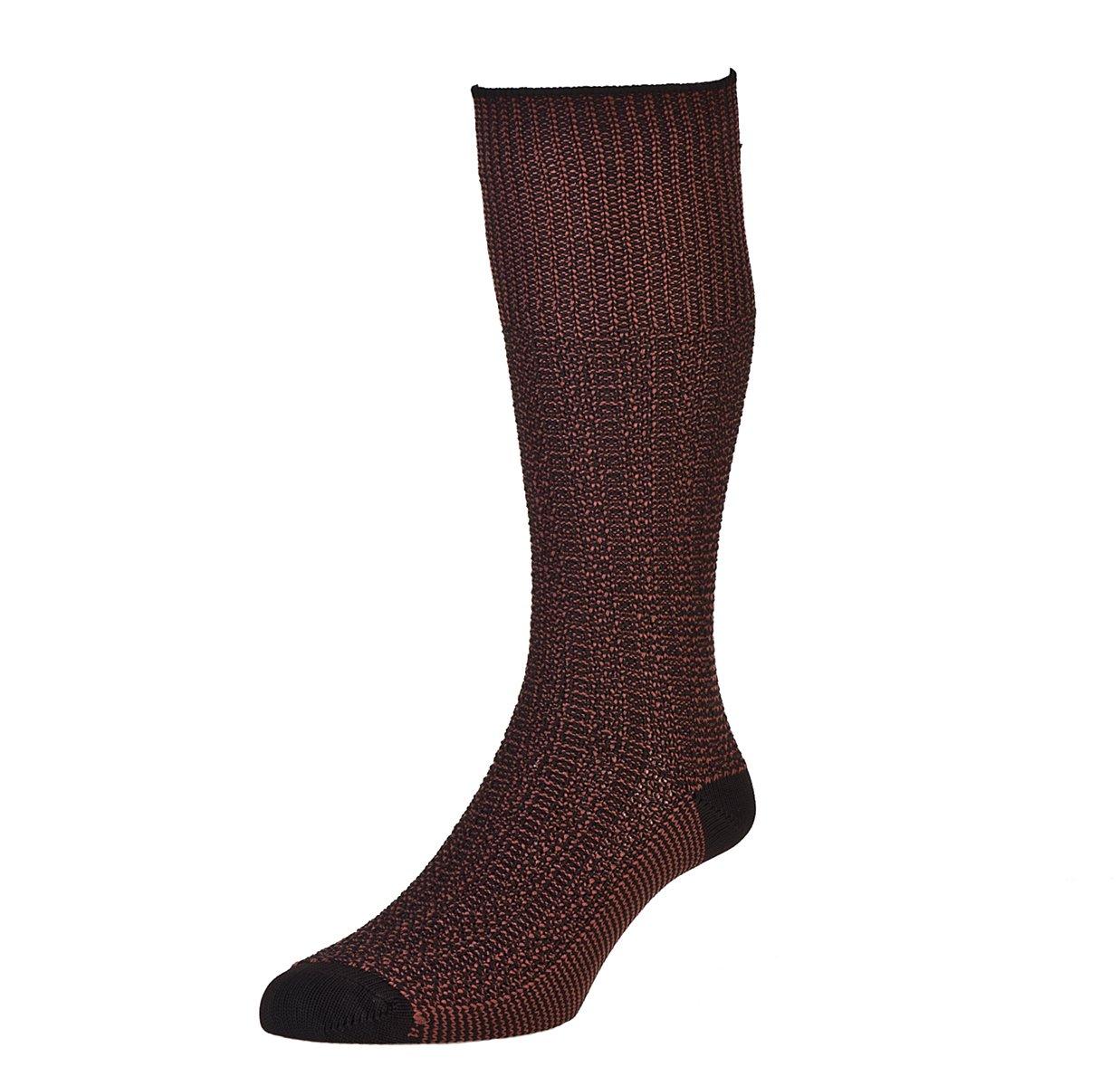 2 Pack Mens/Gentlemens HJ Hall Indestructible Marl Fancy Half Hose Socks ZZ-MSOXHJ4Long-2pk HJ4 Long