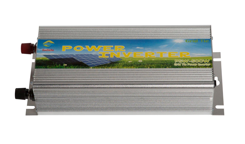 Solinba 500w on Grid Tie Solar Inverter Generator DC22-56v AC110v for 24v Photovaltaic Pure Sine Wave USA Plug by Solinba