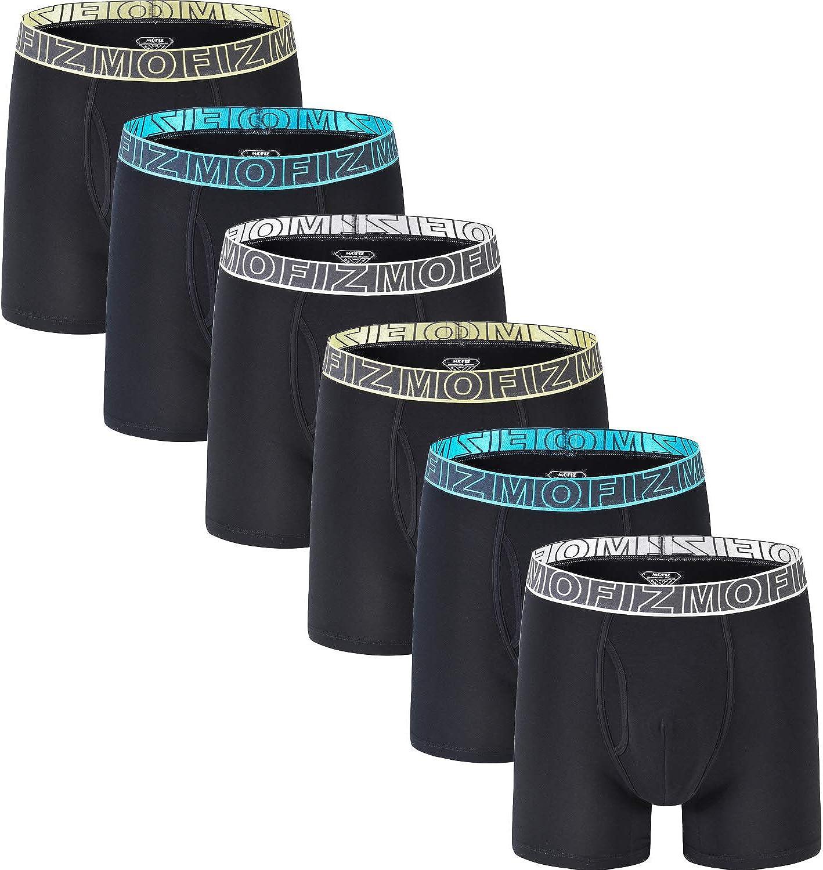 JINSHI Men's Underwear Boxer Briefs Stretch Long Leg Performance Boxer