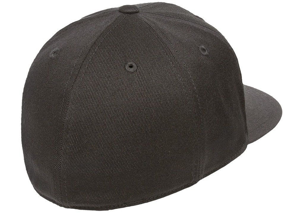 Flexfit Premium Flatbill Cap – Fitted 6210 - Small/Medium (Black) by Flexfit (Image #2)