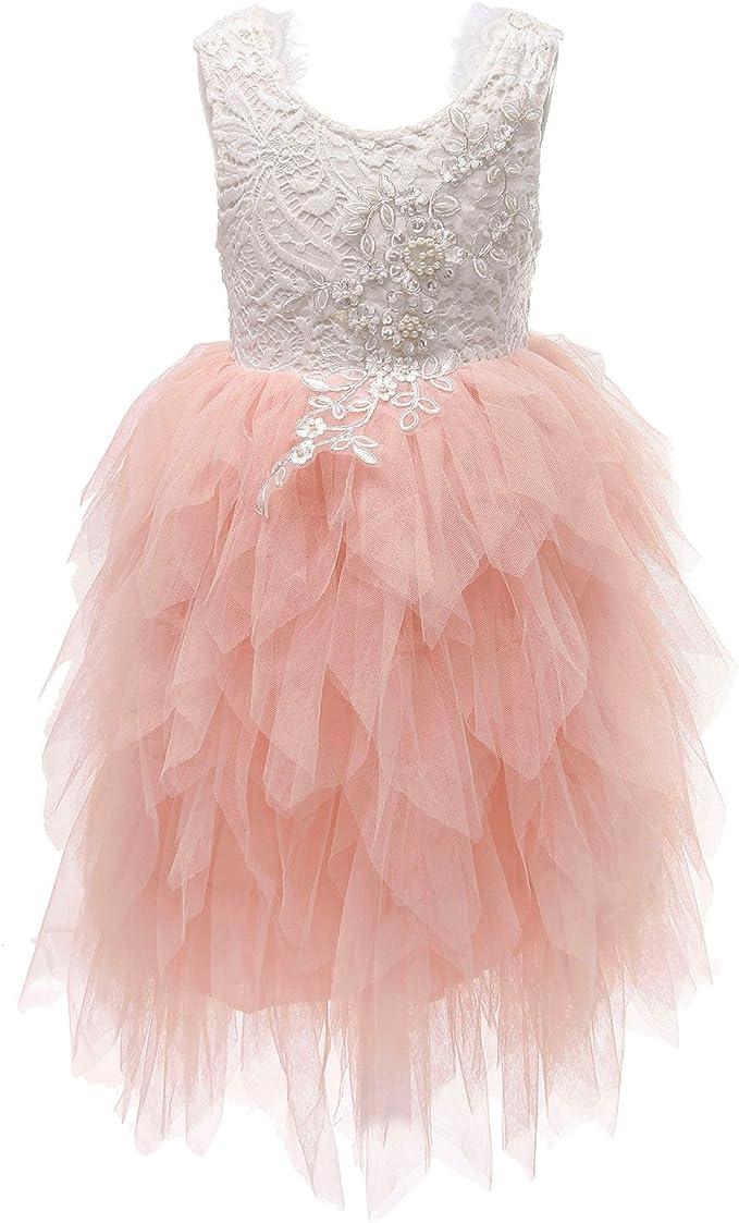 Flower-Girls-Tutu-Lace-Cake-Dress-Skirts-Princess-Birthday-Party-Dresses