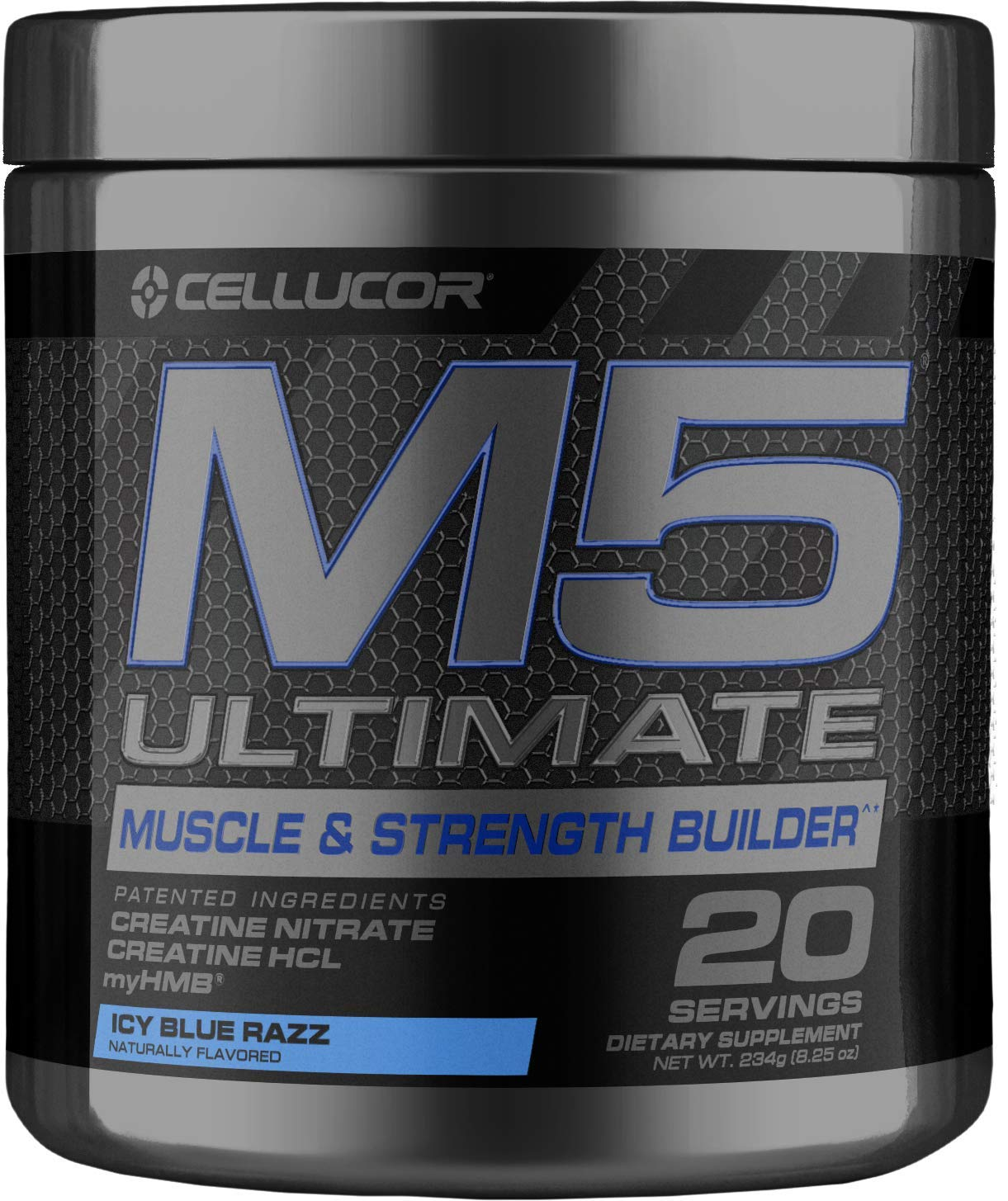 Cellucor M5 Ultimate Post Workout Powder ICY Blue Razz | Muscle & Strength Building Supplement | Creatine Monohydrate + Creatine Nitrate + Creatine HCL + HMB | 20 Servings by Cellucor