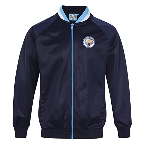 Manchester City FC Official Football Gift Mens Retro Track Top Jacket Small f71501106