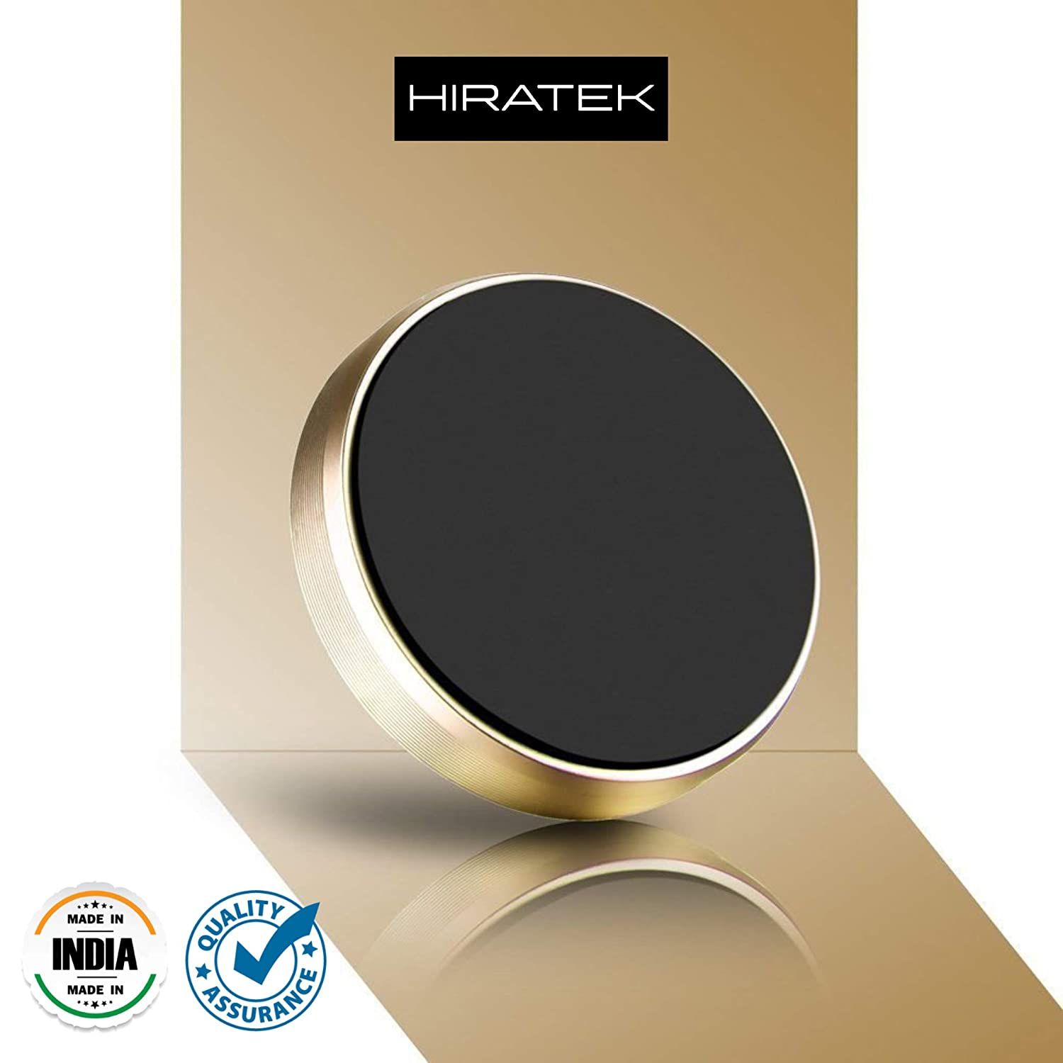 HIRATEK Aluminium, Alloy Metal Portable Dashboard Magnetic Car Mobile  Holder for iPhone X, 8, 8Plus, 7, 6, 6S, Samsung S9, Plus S7 and S6