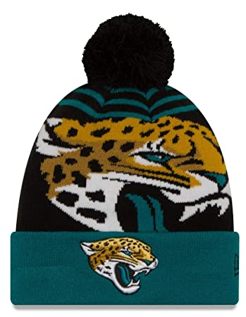 Jacksonville Jaguars New Era NFL  quot Logo Whiz 2 quot  Cuffed Knit Hat ... bfb7ed57c88