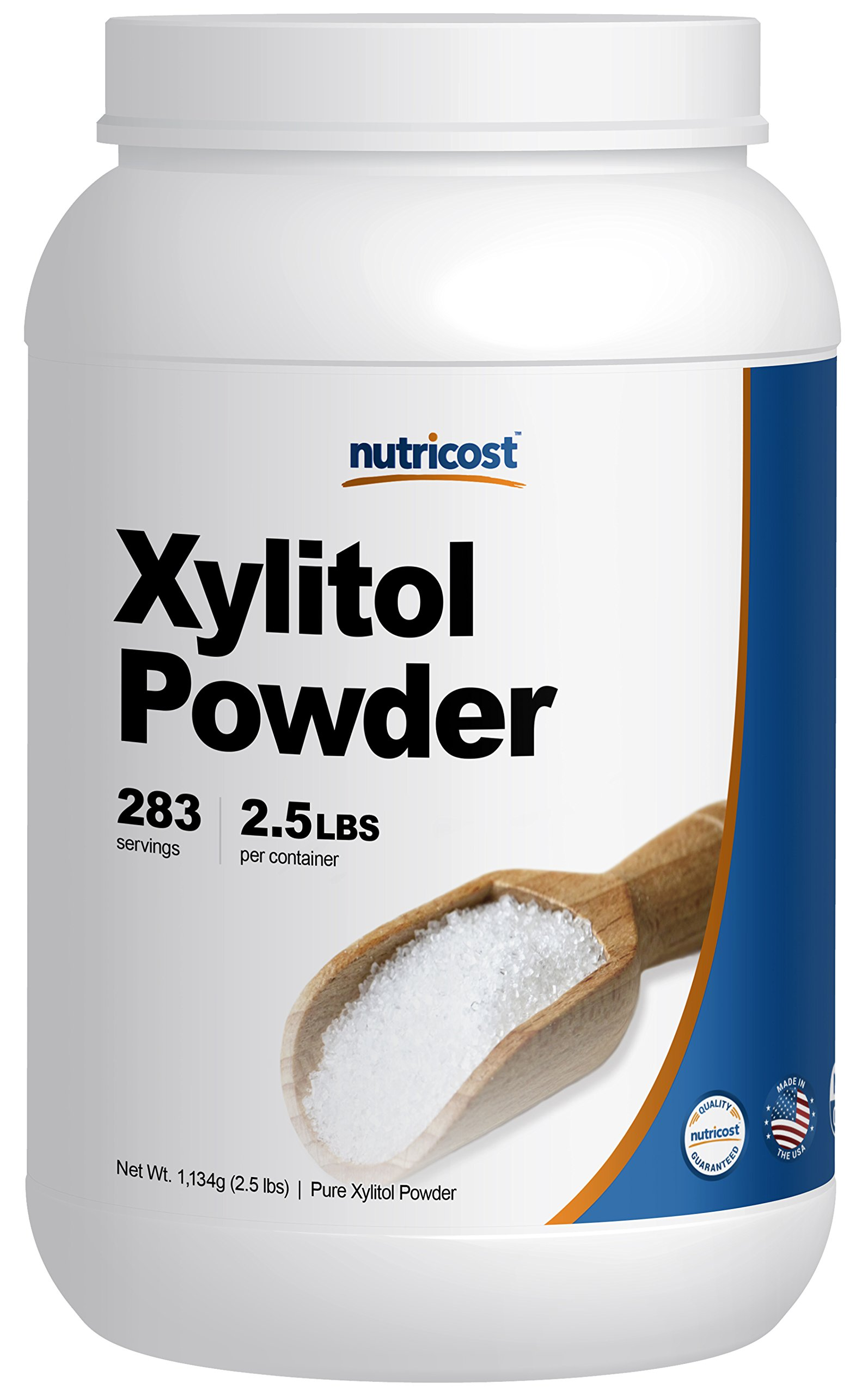 Nutricost Pure Xylitol Powder 2.5 Pounds