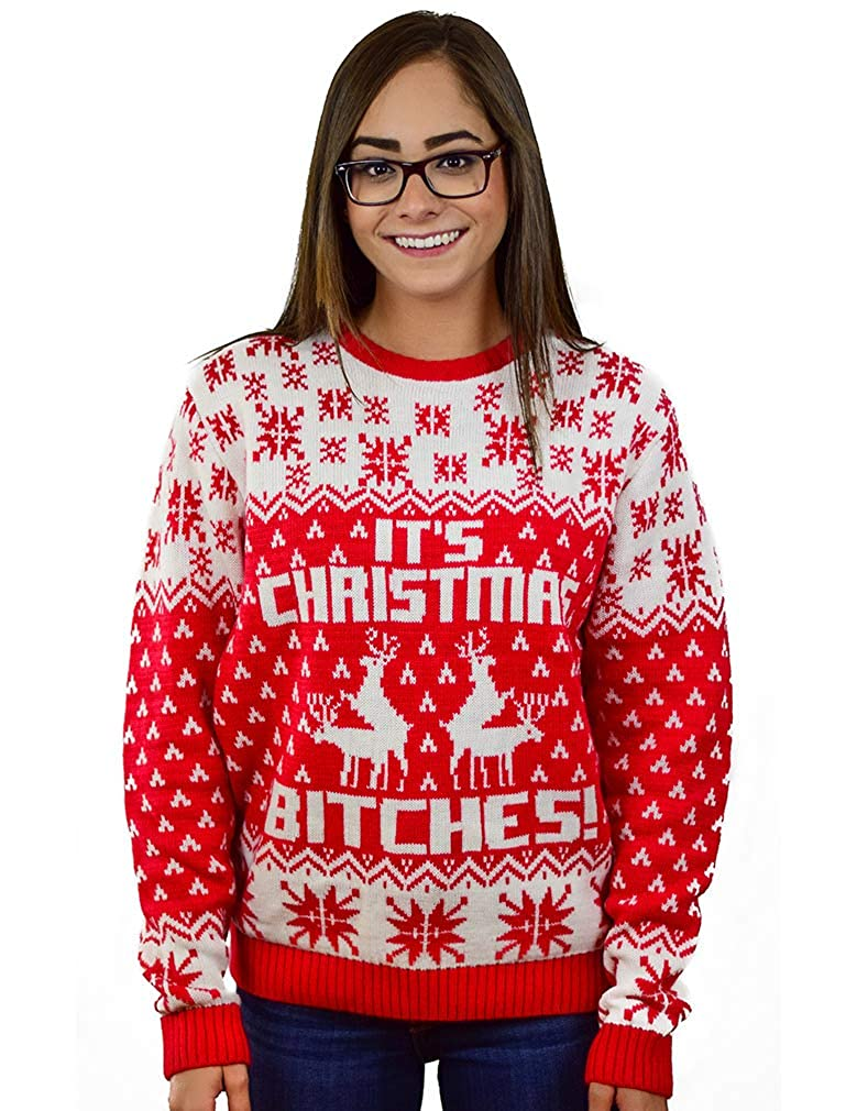 Its Christmas Bitches Weihnachtspulli Sweater Ugly Christmas Sweater