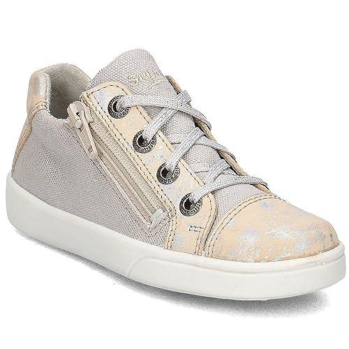 Superfit - Mocasines de Lona para niña beige beige, color beige, talla 34 EU: Amazon.es: Zapatos y complementos