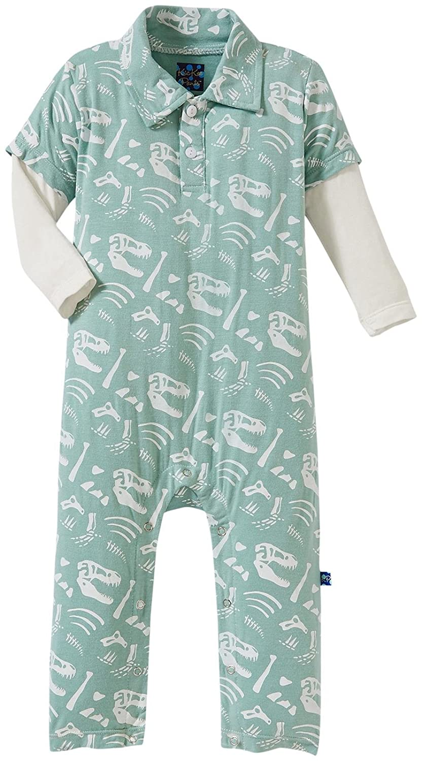 KicKee Pants SHIRT ベビーボーイズ B01678N39S Jade Bones 6 - 12 Months 6 - 12 Months|Jade Bones
