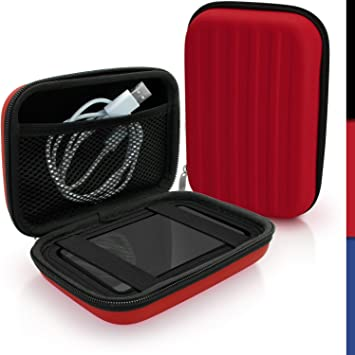 iGadgitz U4434 Rojo EVA Rígida Funda Carcasa Compatible con Western Digital My Passport Studio & Wireless Externo Disco Duro Case Cover: Amazon.es: Electrónica