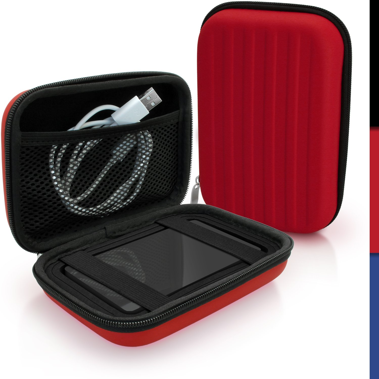 igadgitz Noir EVA /Étui Housse Rigide pour Toshiba Stor.E Aiv TV Kit Canvio Plus Canvio Aerocast Disque Dur Externe Portable Case Cover Canvio Ready Canvio Basics Canvio Aeromobile