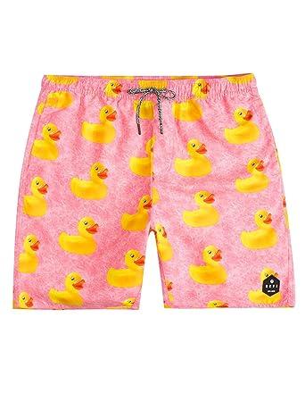 4131b5f59cf47 Amazon.com: NEFF Ducky Hot Pink Hot Tub Volley Shorts: Clothing