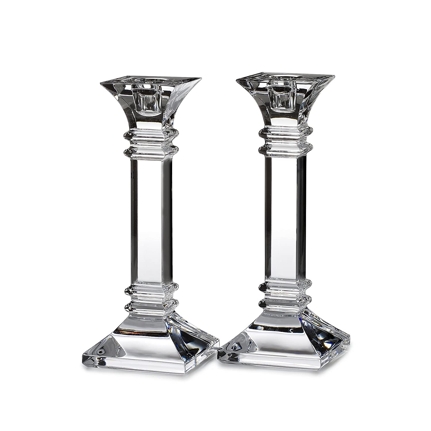 Amazon.com: Marquis by Waterford Treviso 8-Inch Candle Holders ...