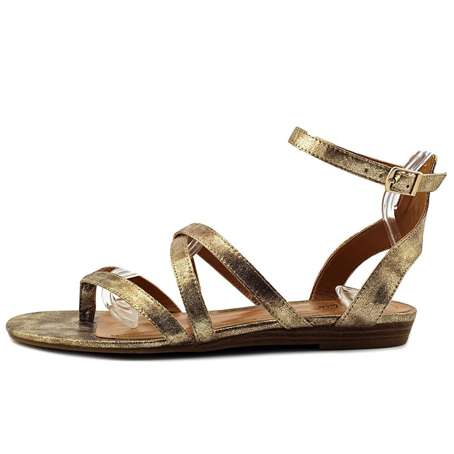 Style & Co. Womens Bahara Open Toe Casual Strappy Sandals, Gold, Size 9.0