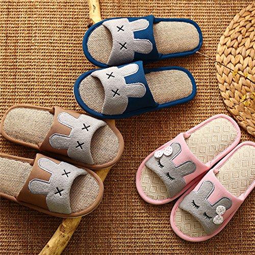 Pantoufles De Coton Fankou Femme Fond Épais Maison Hiver Anti-dérapant Sac Étanche Intérieur Chaud Avec Des Chaussures En Coton Élégant, 37 (pour 36 Pieds D'usure), Gris