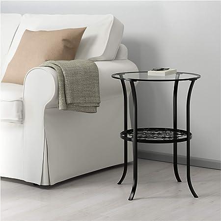 Tavolo Vetro E Acciaio Ikea.Ikea 201 285 64 Klingsbo Tavolino Nero Vetro Trasparente