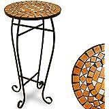 Table guéridon pot de fleur mosaique 62x34cm - Terracotta