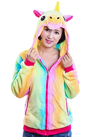 8c31cd8f6 AooToo Unicorn Jacket Hoodies for Girls Costumes Sweatshirt Toddlers Juniors(Rainbow,  S(5