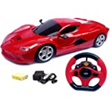 Lalli Sales Steering Remote Control Racing Car for Childrens Assorted Colors