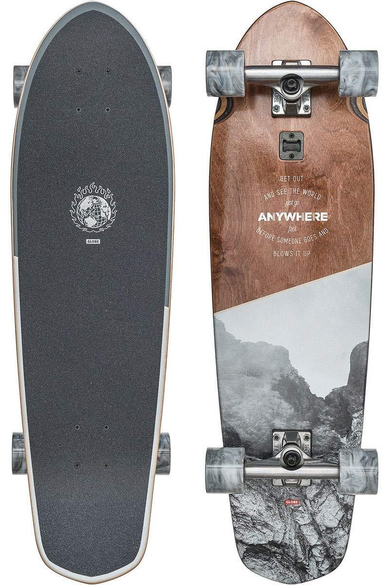 GLOBE Skateboards Big Blazer Longboard Skateboard Complete, Anywhere, 32