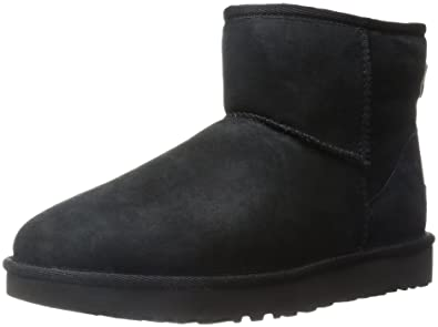 UGG Women's Classic Mini II Winter Boot, Black, ...