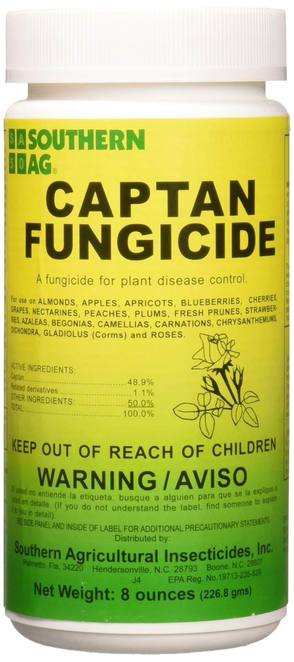 Southern Ag - 01600 - Captan Fungicide - 8oz by Southern Ag
