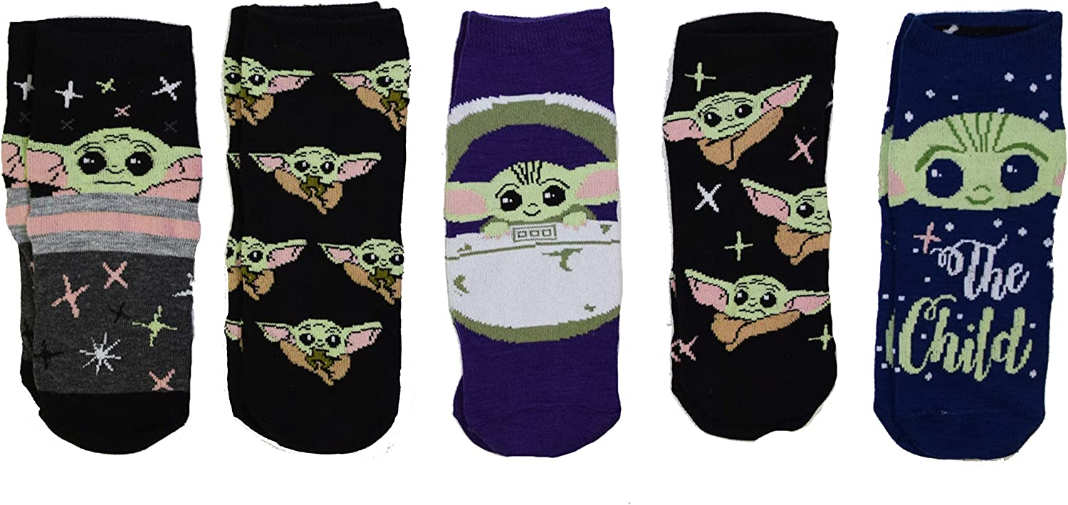 Star Wars The Mandalorian The Child Juniors/Womens 5 Pack Ankle Socks Size (Pod): Clothing
