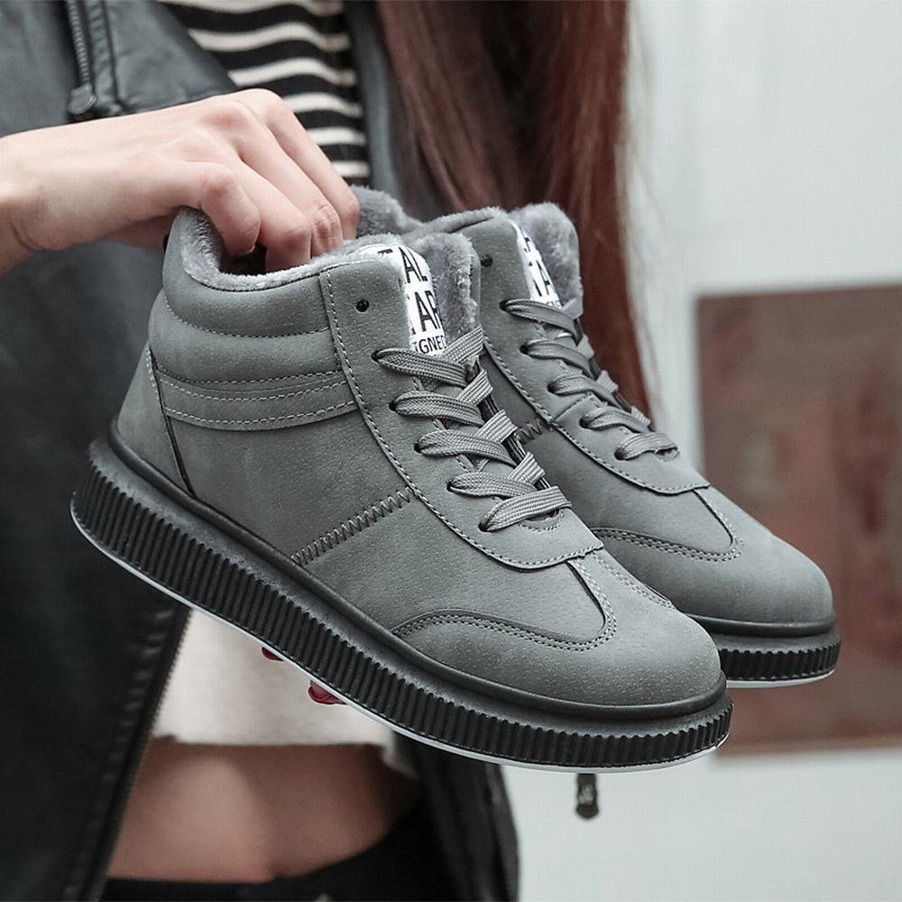 DXD Winter Plus Plus Plus Samt Schuhe Hoch Um Frauen 'S Baumwolle Schuhe Trend Damen Schnee Stiefel zu Helfen 716e33