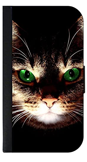 b0b2a60961df Image Unavailable. Image not available for. Color  Green Eyed Cat Wallet  Phone Case for The iPhone 10 X XS ...