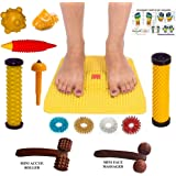 Perfect Magnets Acupressure Mat (Magnets Pyramids) for Pain Relief & Total Health Size 12x12.5""