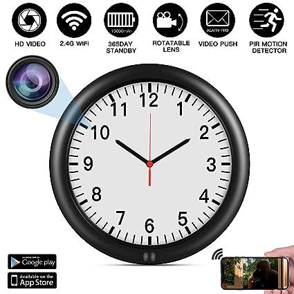 0407a5f5cb7 Wall Clock Hidden Camera 2.4G WIFI Spy Camera HD Wall Clock with Camera  Lens Angle