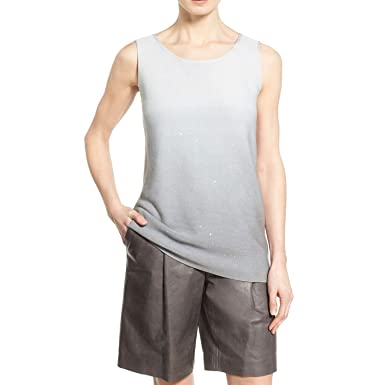 5071715ff15c5 Image Unavailable. Image not available for. Color  Lafayette 148 New York  Womens Sequin Ombre Silk Tank ...