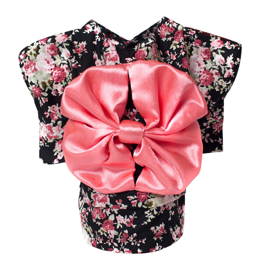 WuKong Multi-size Spring and Summer Pet Dog Clothes Teddy Hiromi Floral Kimono Dress