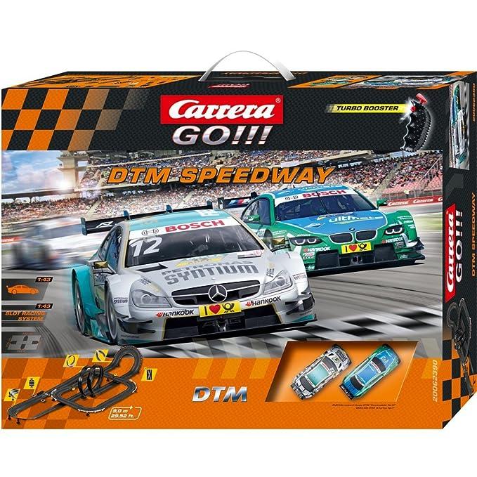 Carrera Go!!! - DTM Speedway AMG Mercedes C-Coupé DTM + BMW M3 DTM, 9 m (20062390): Amazon.es: Juguetes y juegos