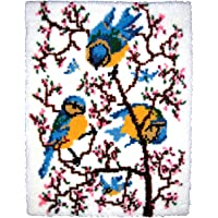 M C G Textiles Latch Hook Kit, 27-inch by 33-inch, Springtime Bluebirds